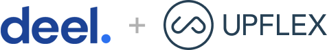 deel. & Upflex logo